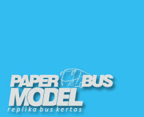 Indonesian paper bus replica